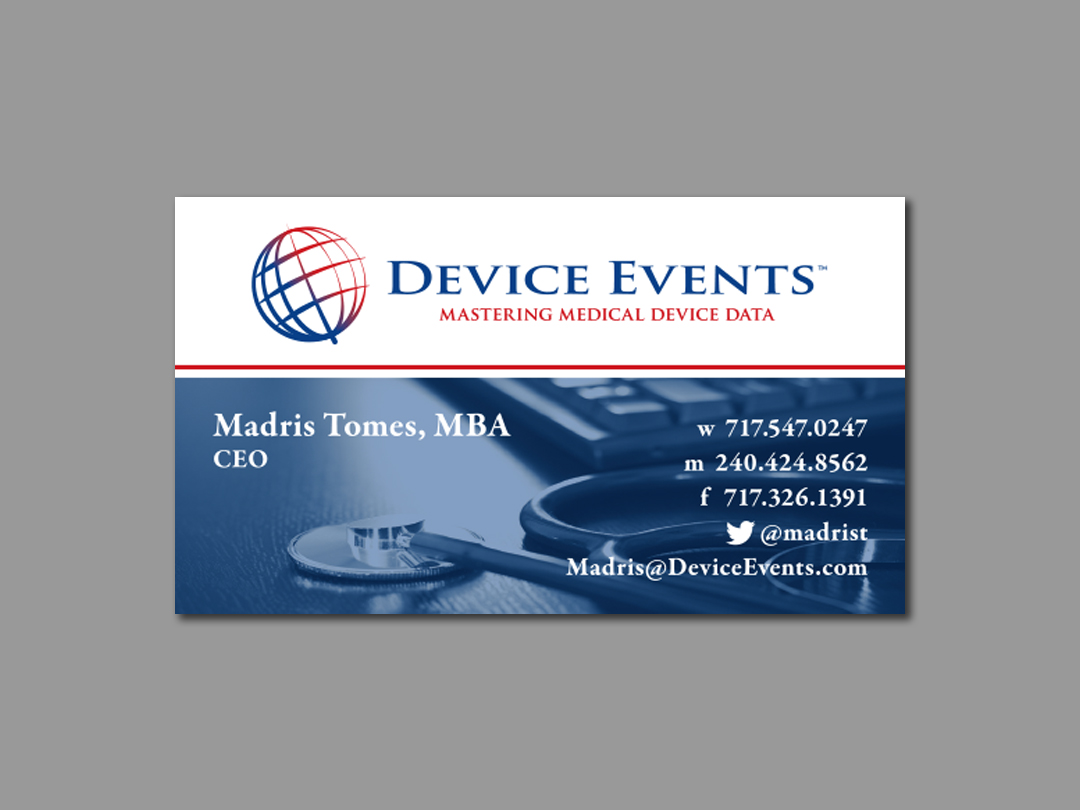 Madris Tomes - Device Events Business Card