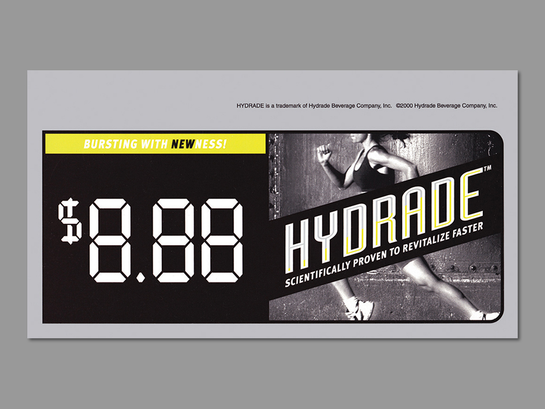 Hydrade Shelftalker with variable price point