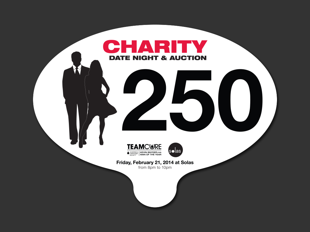 TeamCure Charity Date Night & Auction Paddle