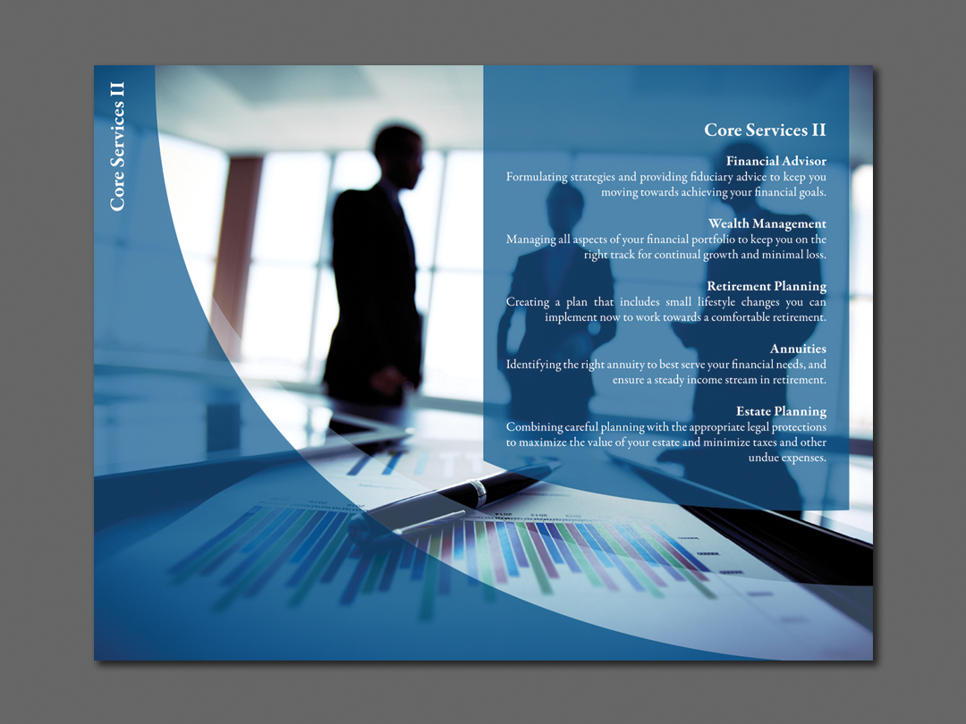 Core Services 2 Insert for Capital Financial Marketing Kit