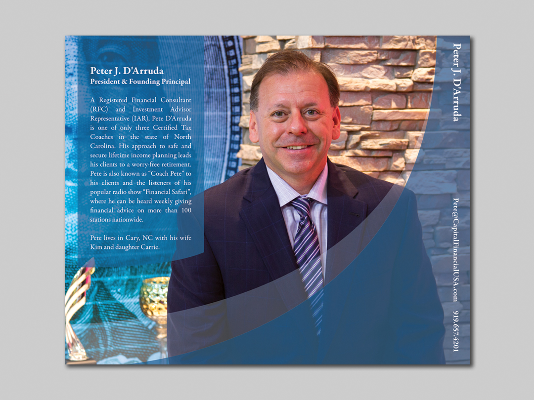 Pete D'Arruda Insert for Capital Financial Marketing Kit